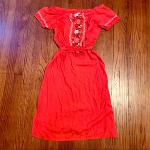 Old navy off shoulder embroidered dress Small